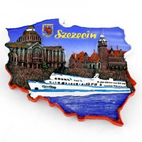 Imán contorno Szczecin