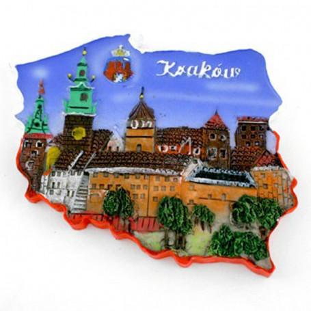 Aimant contour Kraków Wawel