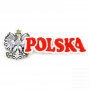 Naszywka haftowana napis Polska