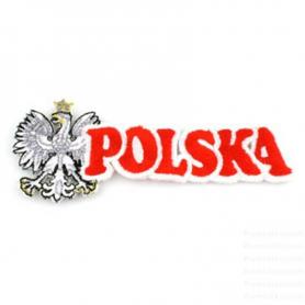 Proužkovaný vyšívaný polský nápis