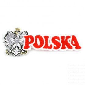 Stripe vyšívané Poľsko nápis