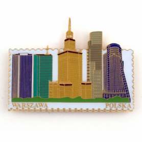 Fridge magnet stamp, Warsaw's Palace of Culture