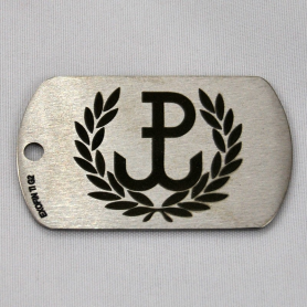 Dog tag titled Poland Fighting