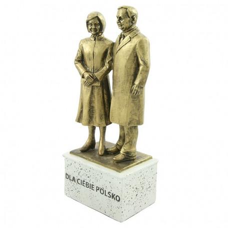 Estatuilla de la pareja presidencial