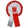 Kotylion biało-czerwony z własnym logo