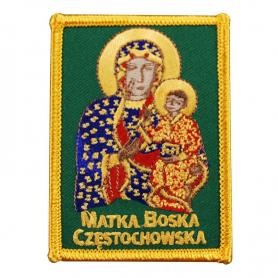 Vyšívaná náplast Matka Boží z Częstochowy