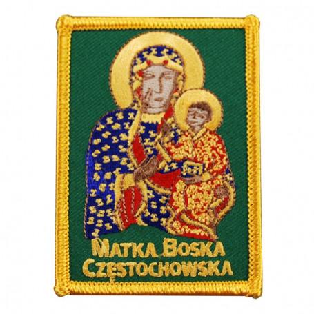 Patch brodé Mere de Dieu de Częstochowa