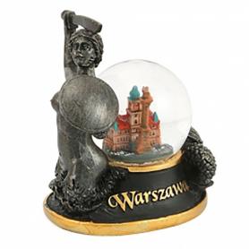 Snow globe 45 mm - Warsaw Mermaid