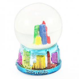 Snow globe 45 mm - Warsaw