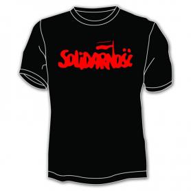 Solidarność Shirt - großer Schriftzug, schwarz