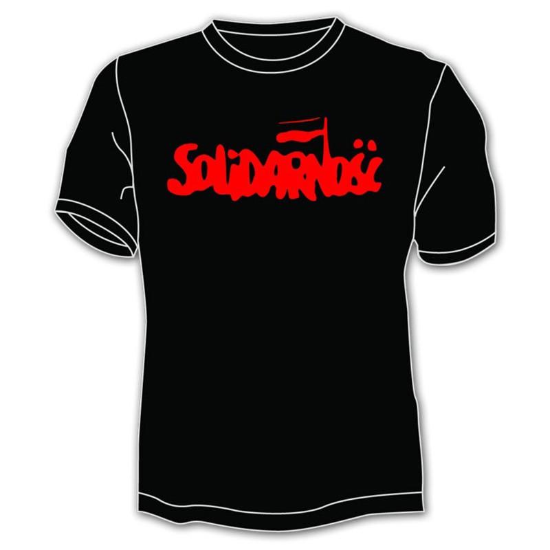 Chemise Solidarność - grand lettrage, noir