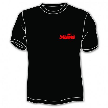 T-shirt Solidarité - petite inscription, noir
