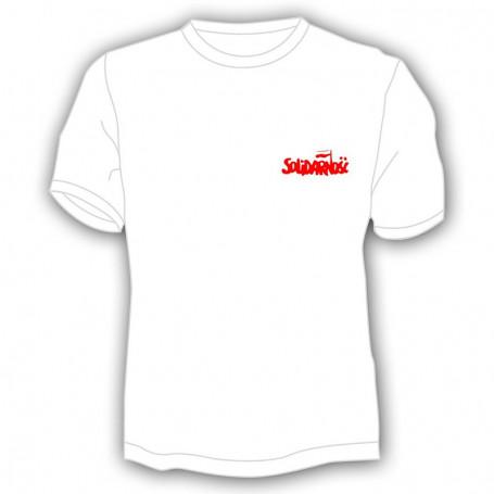 T-shirt de solidarité - petite inscription, blanc