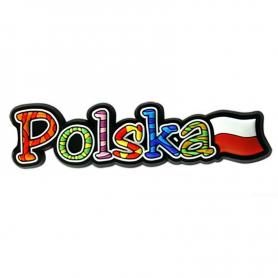 Aimant en caoutchouc avec le mot Pologne