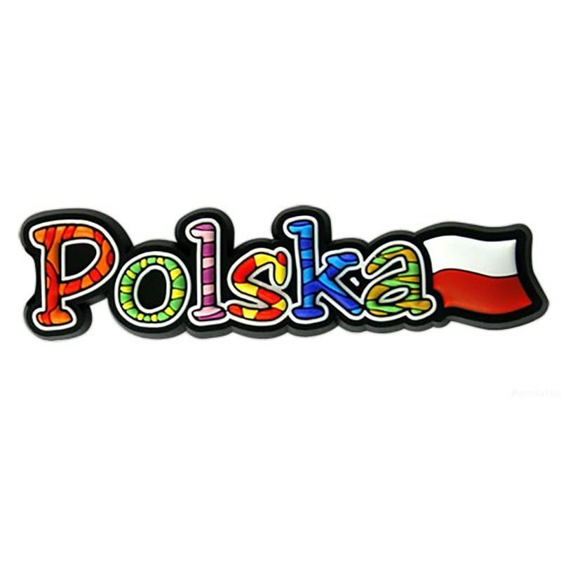 Magnes gumowy napis Polska
