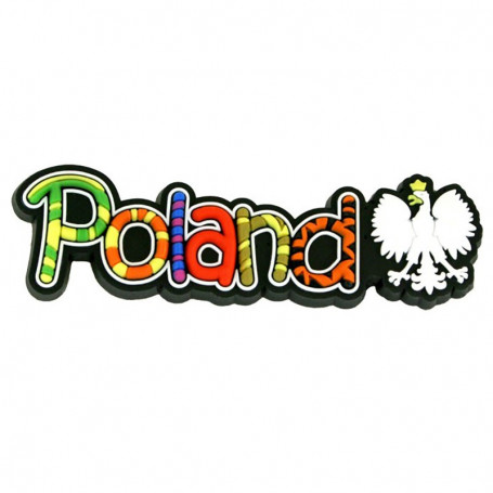 Magnes gumowy napis Poland