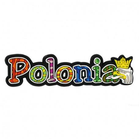 Aimant en caoutchouc Polonia lettrage