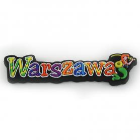 Magnes gumowy - napis Warszawa