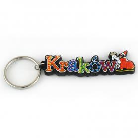 Soft pvc keychain inscription Krakow
