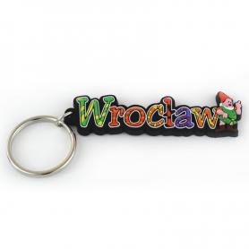 Soft pvc keychain inscription Wroclaw