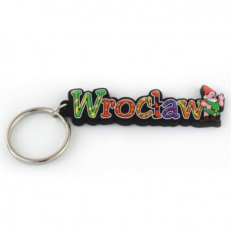 Gummi nyckelring - Wrocław inskription