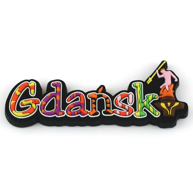 Aimant en caoutchouc - l'inscription Gdańsk