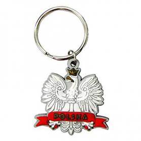 Dvipusis guminis raktu pakabukas - Eagle
