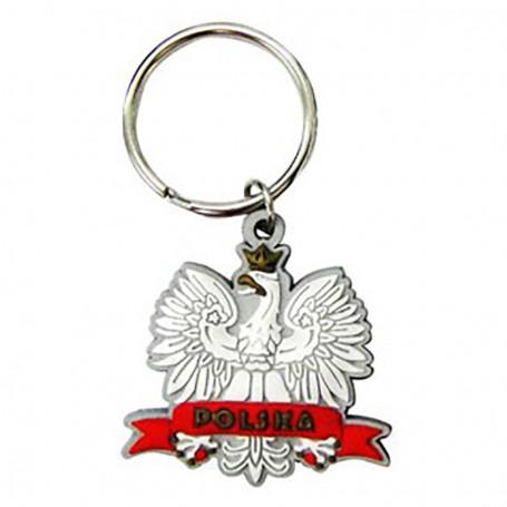 Porte-clés en caoutchouc a deux côtés - Eagle