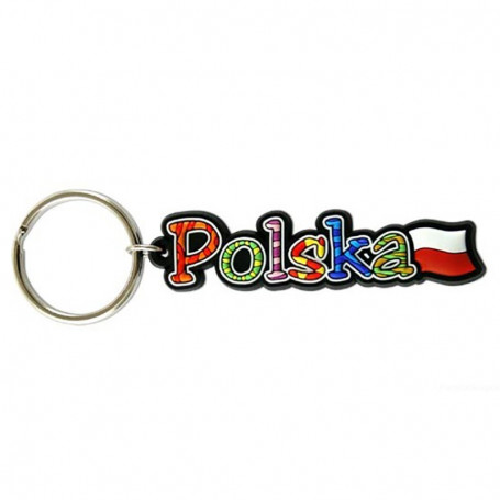 Gummi nyckelring - inskriptionen Polen