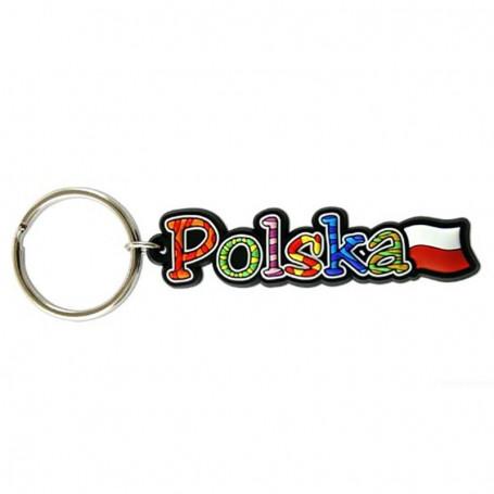 Porte-clés en caoutchouc - l'inscription Pologne