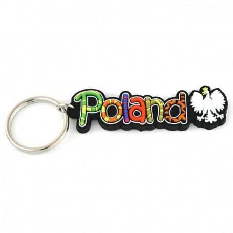 Porte-clés en caoutchouc - inscription Pologne