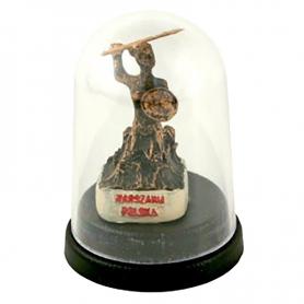 Mini Statuette unter der Kuppel - Warschauer Meerjungfrau
