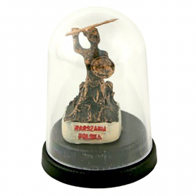 Statuetka mini pod kopułą – Warszawa Syrenka
