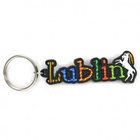 Gummi nyckelring - Lublin inskription
