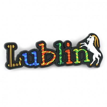 Imán de goma - inscripción Lublin