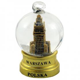 Snow globe 45 mm – Warsaw gold tag