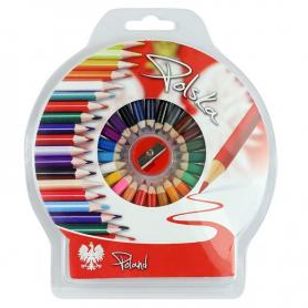 Color pencils round foto Poland