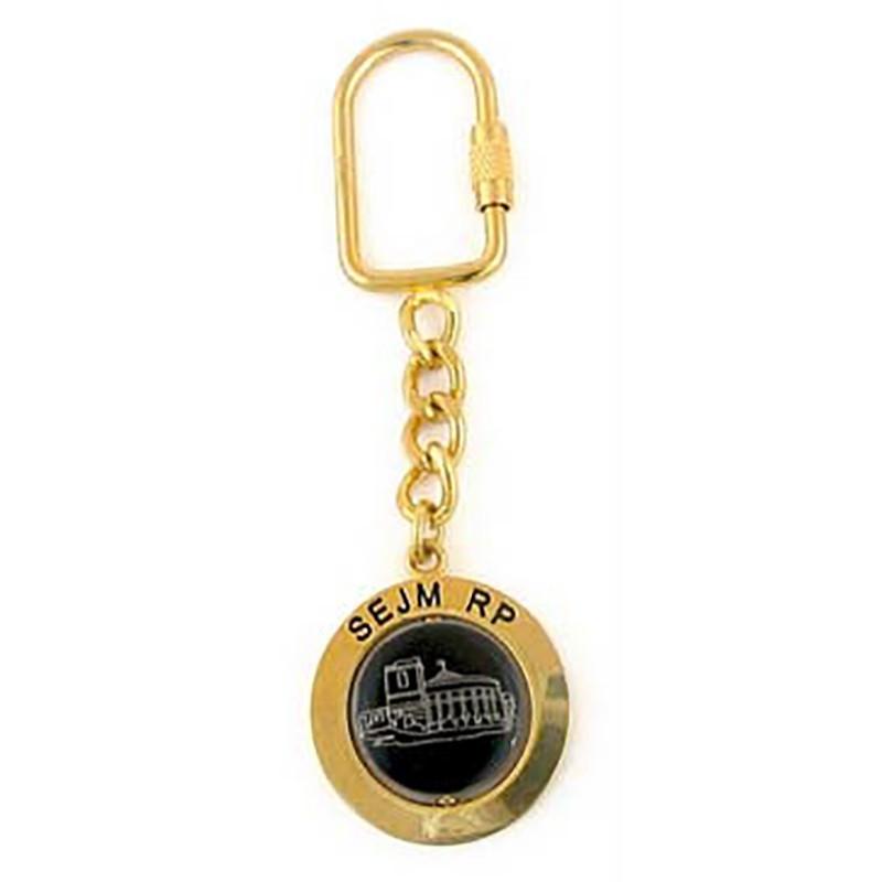 Metalo raktu žiedas, Seimo RP, auksas