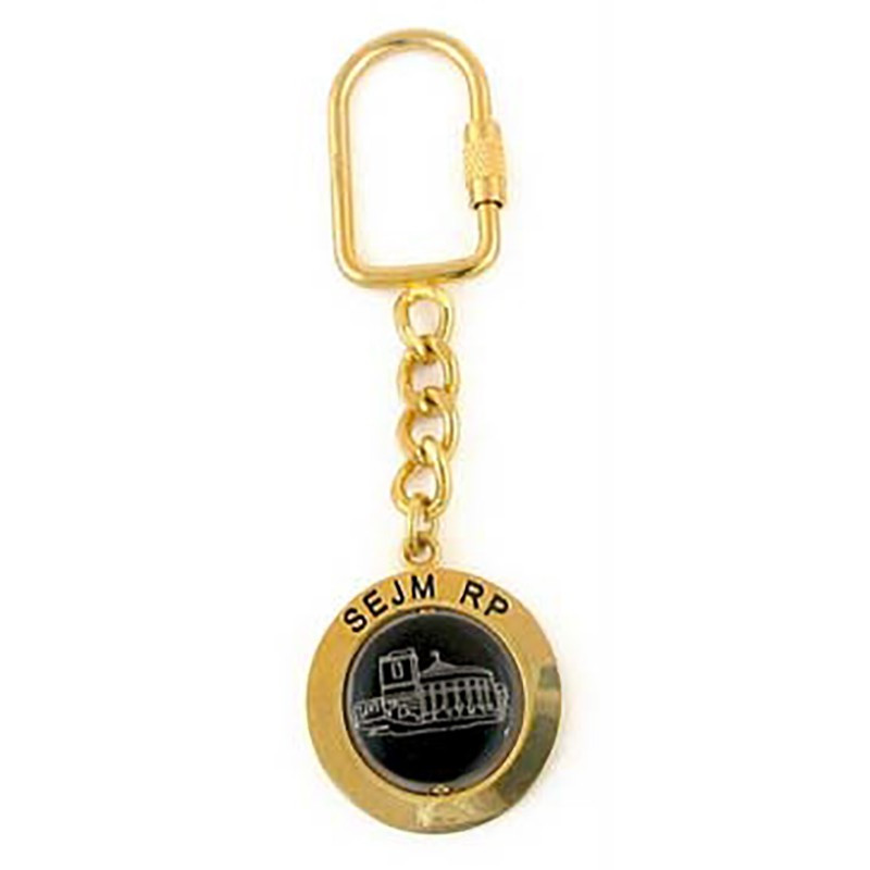 Porte-clés en métal, Sejm RP, or