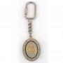 Porte-clés rotatif, aigle ovale, argent