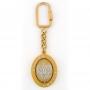 Porte-clés rotatif, aigle ovale, or