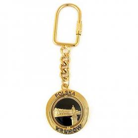 Rotary Schlüsselanhänger Krakau, Sukiennice, Gold