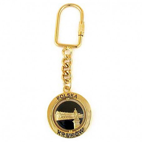 Porte-clés rotatif Cracovie, Sukiennice, or