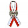 Przypinka, pin flaga wstęga z orłem