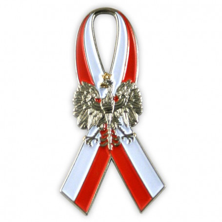 Flag ribbon with the eagle - pin