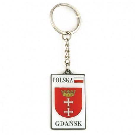 Llavero metálico, escudo de armas, Gdańsk