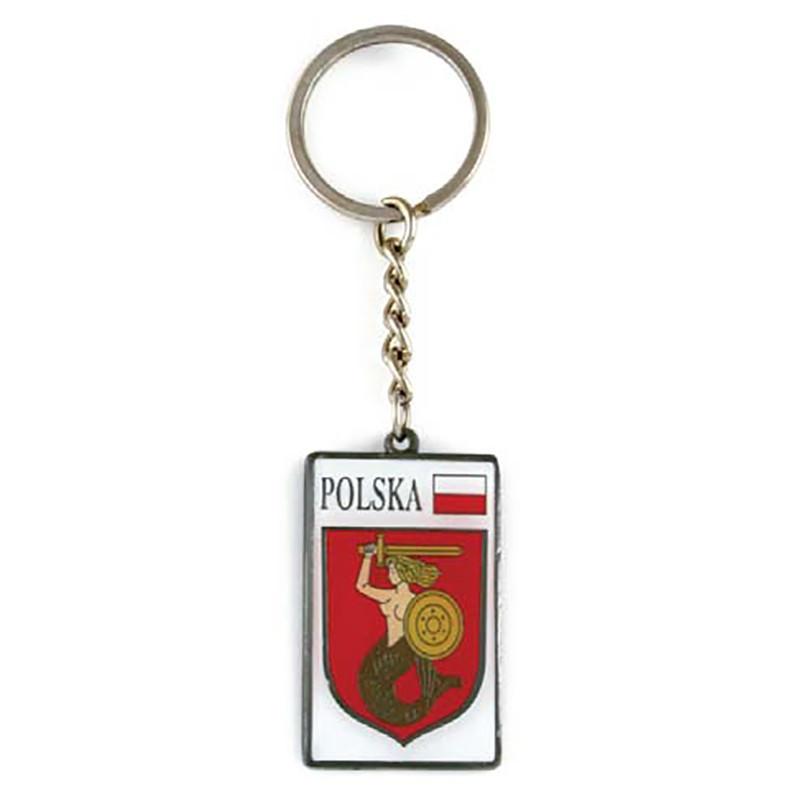 Llavero de metal, escudo de armas, Varsovia
