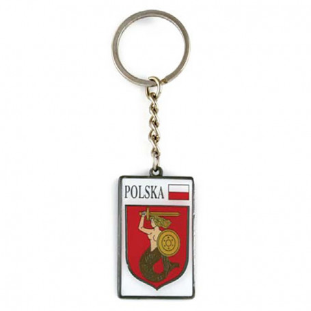 Metalo raktu žiedas, herbas, Varšuva