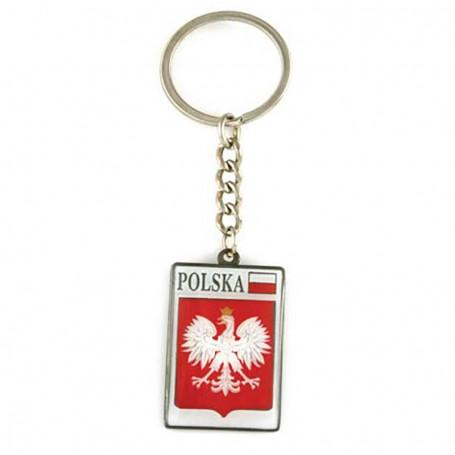 Llavero de metal, emblema, Polonia