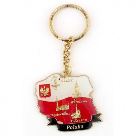 Brelok kontur Polski
